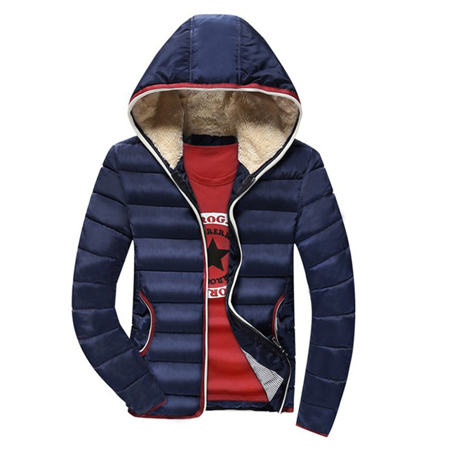 Jacket Men Warm cotton coat mens winter casual hooded jackets mens Outwear thick Parka Plus size XXXL Coats