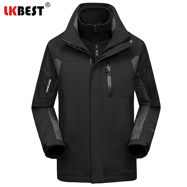 Cheap LKBEST Waterproof Winter Jacket Men 2 Pieces Windproof Pizex Men Coat Long Men Parka Milirary Outwear Overcoat Plus Size M-4XL