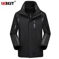LKBEST Waterproof Winter Jacket Men 2 Pieces Windproof Pizex Men Coat Long Men Parka Milirary Outwear Overcoat Plus Size M 4XL