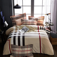 Ms.O Home Textile Duvet Cover Classic Ethnic Plaid Luxury Europe Printed Classic Designer Bedding Set Bedroom Bed Linen
