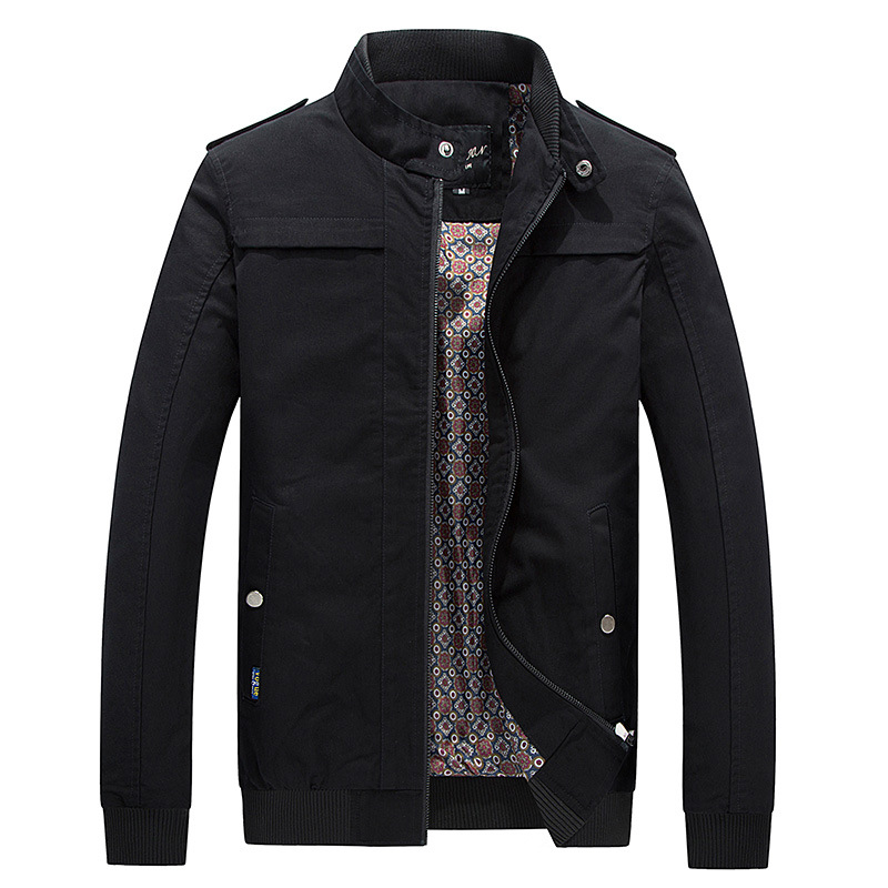 2017 Spring Autumn New Casual Stand Collar Chaqueta Algodon Hombre Slim Good Quality Men Jacket Coat Clothes