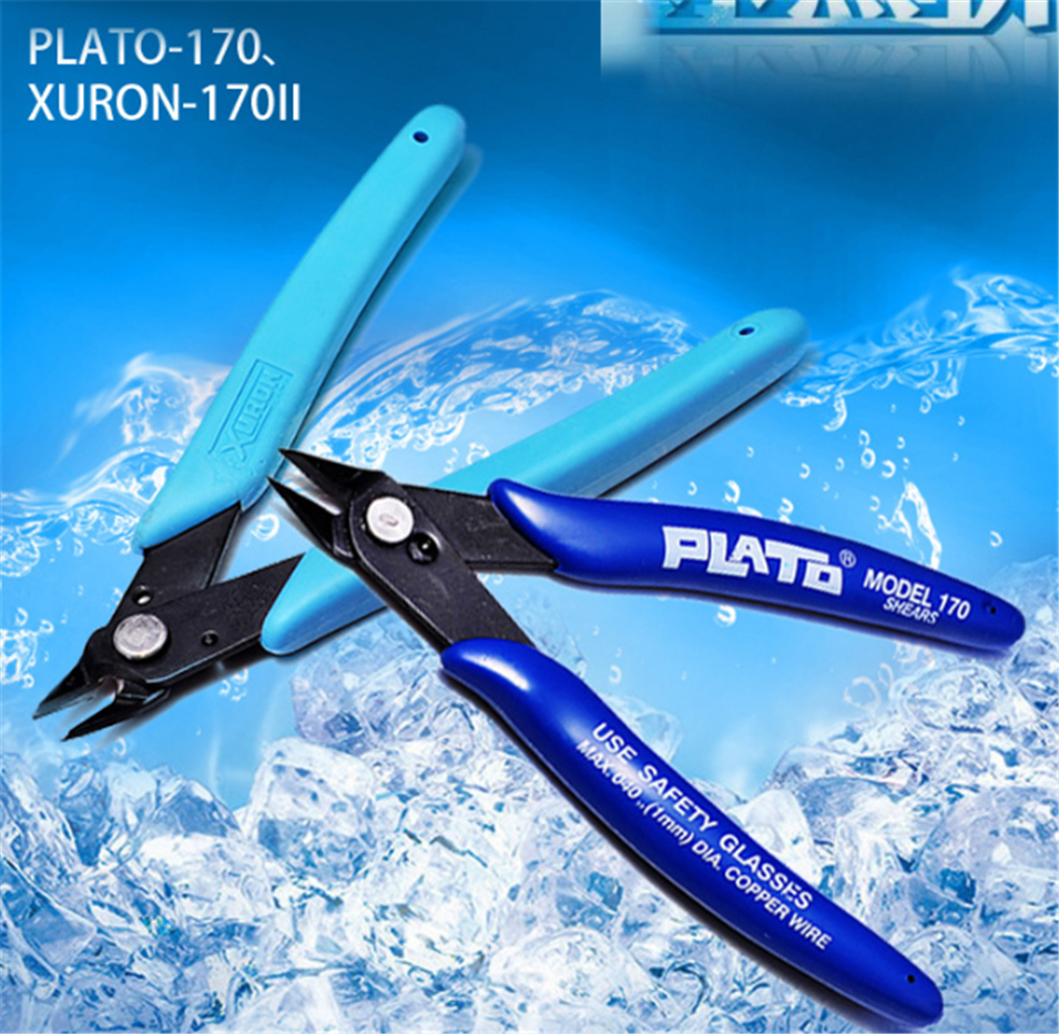 Diagonal Pliers Electrical Cable Wire Cutter Cutting Diagonal Cutting Nippers Alicates Hand Tools XURON 170II  170