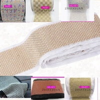 9color 1yards/lot 24 rows clear Crystal rhinestone mesh trimming 5mm chain Silver base lace fabric DIY sewing lace