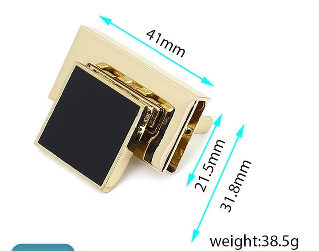 41x21 5mm Bag Parts Hardware Accessories Handbag Lock Round Shap
