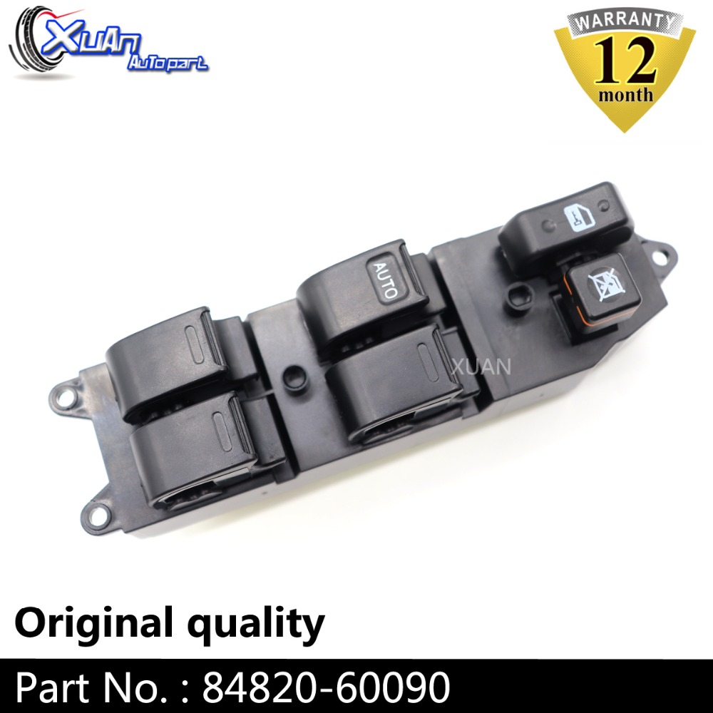 XUAN Power Window Lifter Master Control Switch 84820-60090 For <font><b>Toyota</b></font> Corolla Camry Avalon Echo Yaris <font><b>4Runner</b></font> Hilux Land Cruiser image