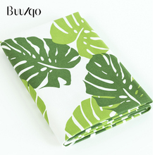 buulqo  Leaf Cotton Linen Fabric by Half Meter for DIY sewing upholstery sofa tablecloth Material
