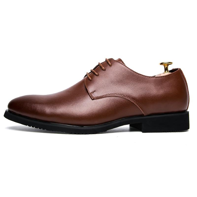 Hommes Black Bureau Automne De Formelle Noir Cuir Brun D'été brown Robe Chaussures Décontractée Oxford D'affaires Luxe Respirant En aF4rax