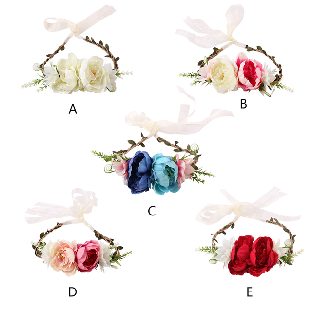 Accesorio de la foto de la diadema de la corona de la flor de los niños