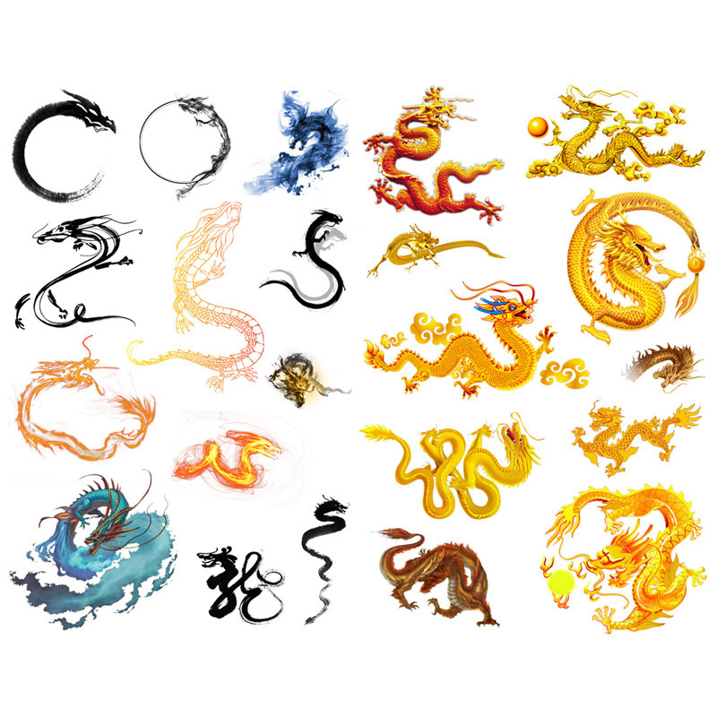1 PCS Chinese Myth Dragon  Scrapbook Label Aesthetic Stickers Cute Stationery Back to School Supplies