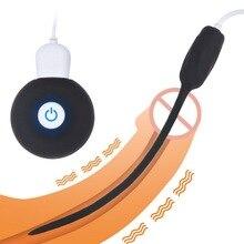 20 Speeds Dilatador Anal Vibrator Penis Plug Urethral Catheter Vibrator USB Charging Sex Toys for Men Gays Urethral Sound Penis