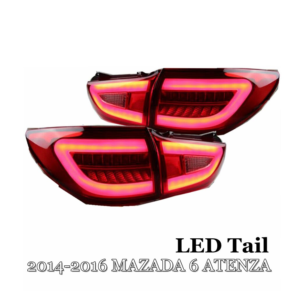 Car Styling Tail Lamp for Mazda 6 Atenza 2014 2016 Taillights LED Signal LED DRL Day running Stop Rear Lamp Car Accessories
