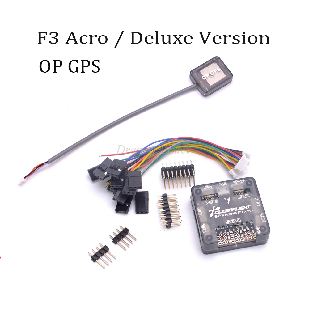 SP Racing F3 Flight Controller Board Acro / Deluxe version + Mini OP GPS For FPV QAV250 Martian II 220mm FPV RC drone Quadcopter ublox 7 series n32 gps module for mini naze32 flight control board for qav250 racing drones