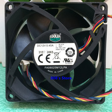 Радиатор процессора кулер вентилятор для FA08025M12LPA 8 см 80*80*25 мм 0.45A DC 12 В 4 булавки ШИМ гидравлический бесшумный контроль температуры мастер