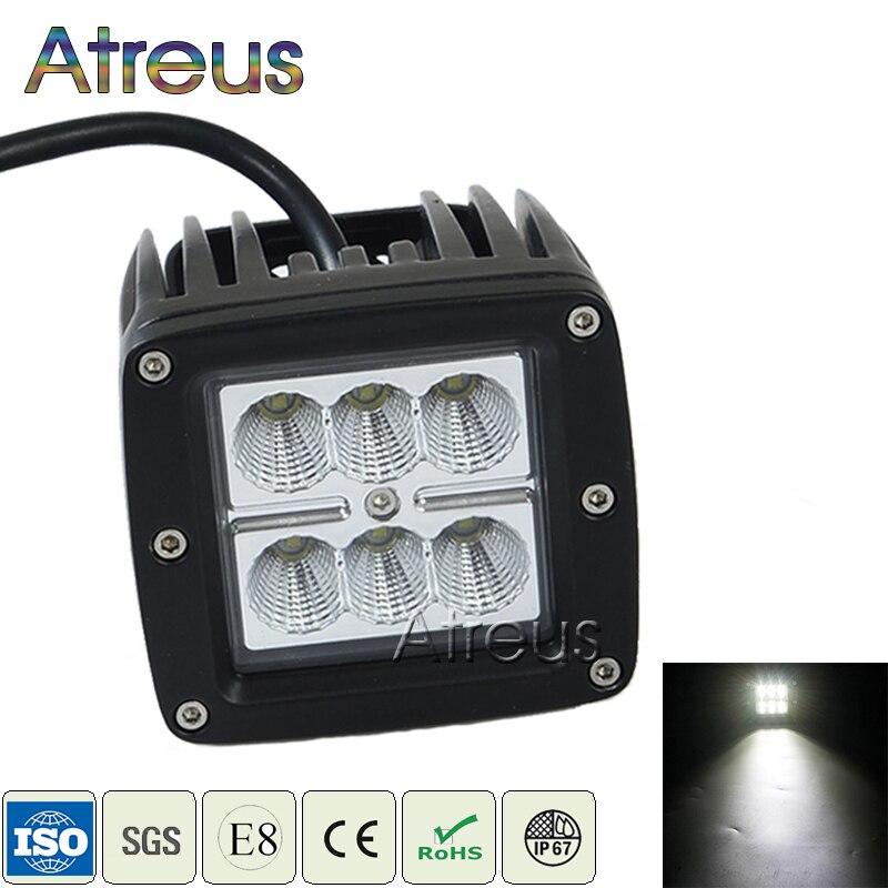 Atreus 18 W Mobil LED Kerja Cahaya Bar 12 V Spot DRL untuk ATV Truk - Lampu mobil - Foto 2