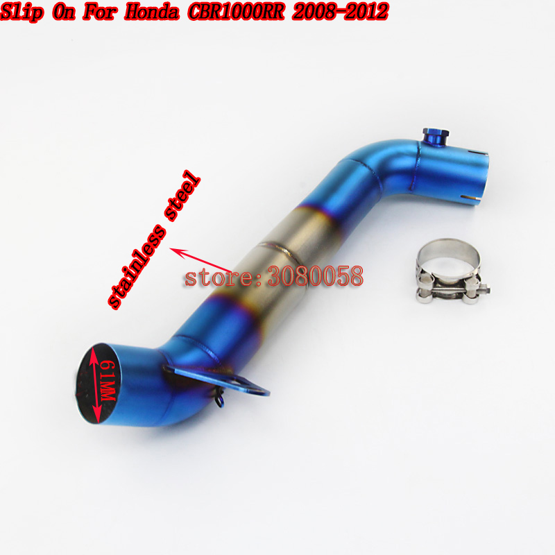 Motorcycle Exhaust Escape CBR1000 Slip On For Honda CBR1000RR 2008-2012 Years Motorbike Modified Muffler Pipe Middle Tube