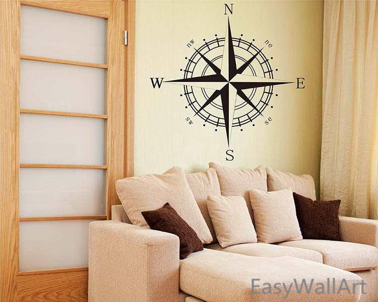 Nautical Comp Vinyl Decal Beach Nursery Decor Wall Art Rose Stickers In From Home Garden On Aliexpress Alibaba Group