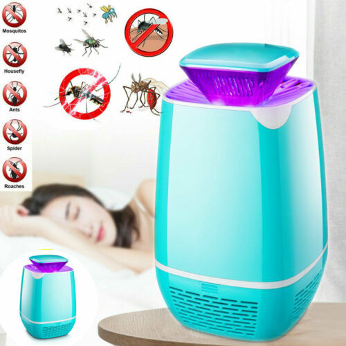Indoor Home Electric Mosquito Fly Bug Insect Killer LED Light Trap Lamp USB Gadgets