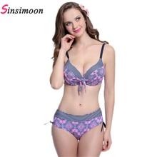 sexy print striped pink big cup plus size bikini push up  muslim swimwear bandeau women 2016 bathing suit plavky BC1695