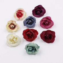 10 pz 5 cm New Rose Mini Fiore FAI DA TE Craft Wedding Decoration Fiore Artificiale Cappello Decorazione Accessori(China)