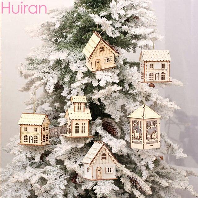 Huiran adornos del árbol de Navidad adornos de madera ... - photo#32