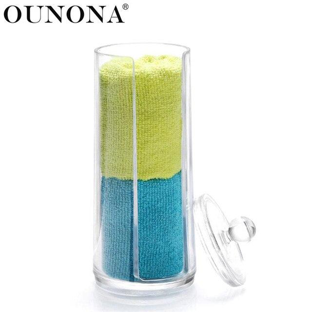 OUNONA Acrylic Cotton Swabs Makeup Organizer Box Cosmetic Q Tip Storage  Holder Makeup Cotton Pad