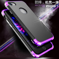 UYG For Iphone 7 Case Luxury Metal Aluminum Super Cool Design Dual Color Ultra Thin With