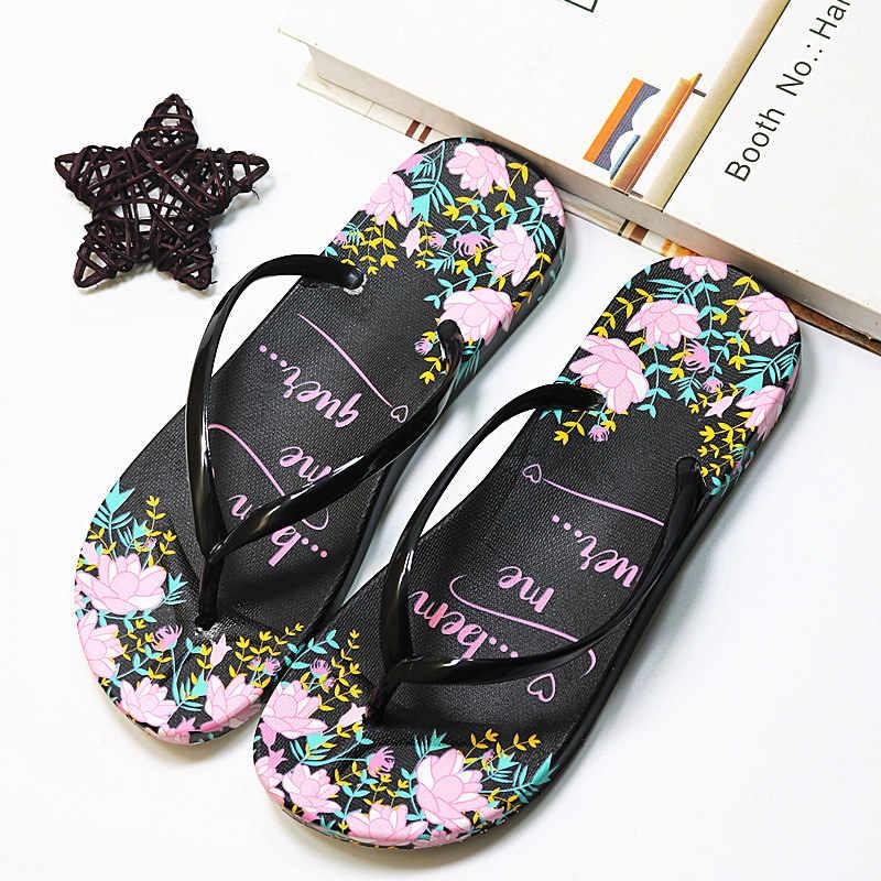 Mulheres Chinelos Chinelos de Praia Aleta Verão Chinelos Casuais Ao Ar Livre Sapatos Sandálias EVA Chinelos de Praia Sapatos Casa Mulher Floral