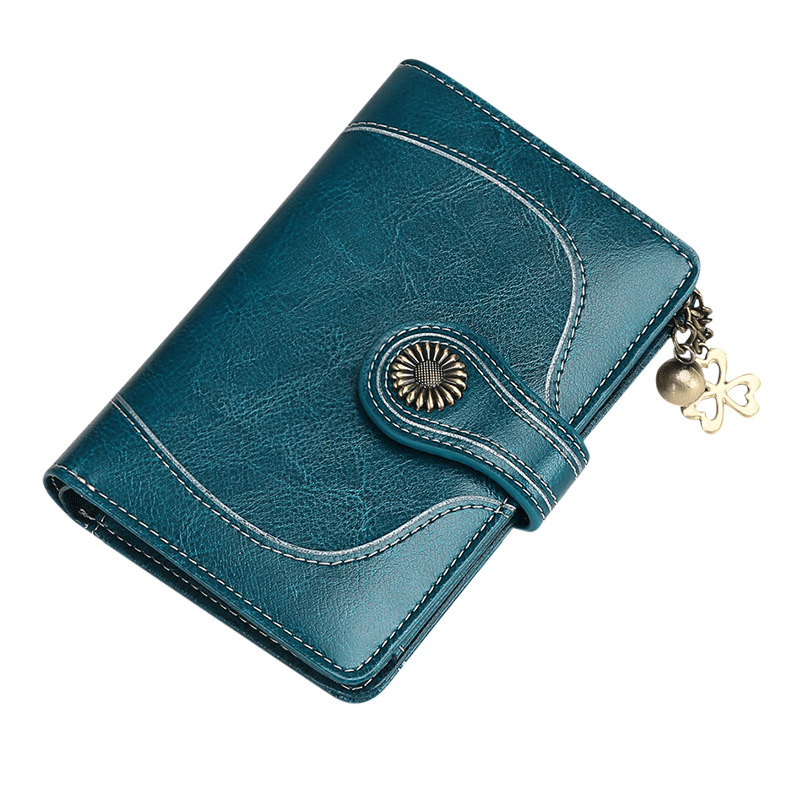 2018 New Hot sale Women's Wallet Purse Female Mini Notecase Moneybag Clutch Wallets Vintage Sunflower Genuine Leather new mini 4in1 patterns sunflower whirlwind r
