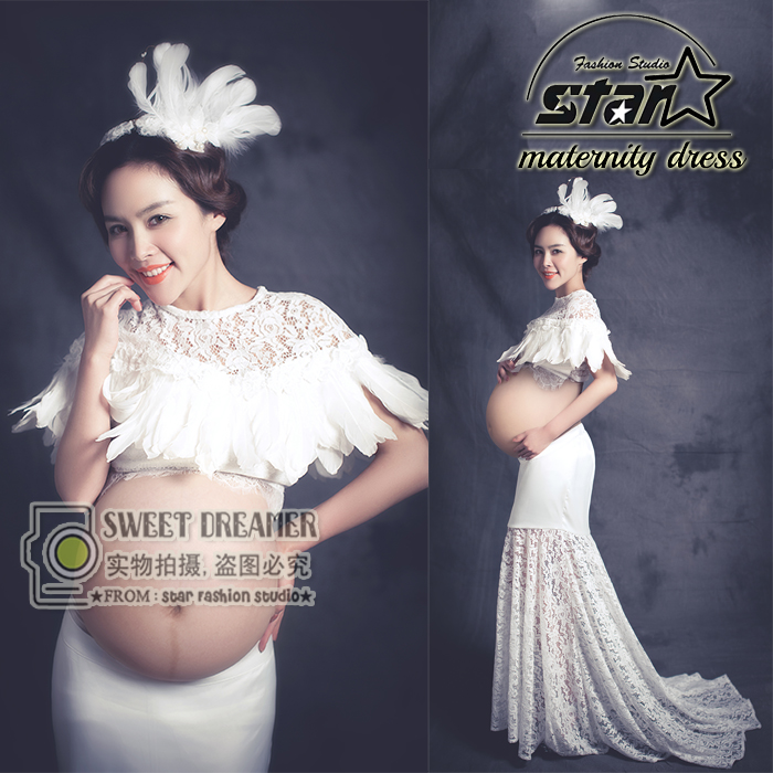 ФОТО Premama Clothing Photo Portrait Maternity Dresses Maternity Photography Props Clothes Pregnancy Gown Set Dresses For Pregnant