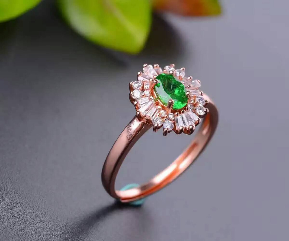 style shaped white antique halo ring rings engagement tsavorite garnet with diamond pear green gold