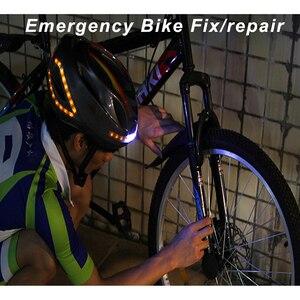 Image 3 - SAVA casque de vélo, pour le cyclisme de nuit, avec clignotant, commande sans fil casque de vélo, charge USB, LED