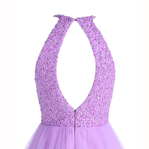 Image 5 - ANGELSBRIDEP Short Lilac Homecoming Dresses 2020 Mini Beading Homecoming Dress Open Back Short Graduation Dresses Party Gowns
