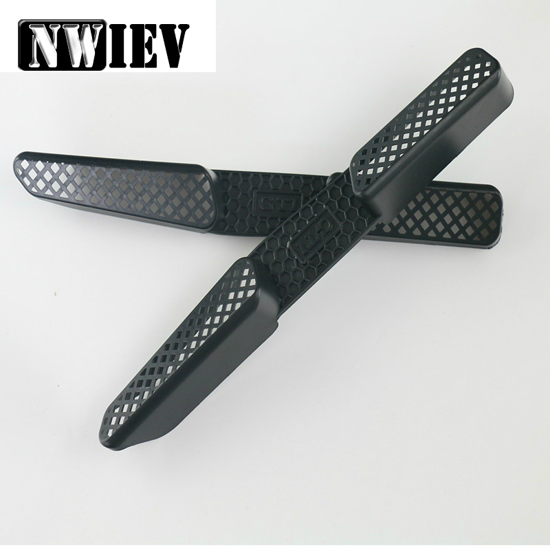 NWIEV 2pcs Car Under Seat Air Conditioner Air Outlet Duct Vent Protective Cover Grill For 2009-2017 Skoda Yeti 5L Accessories