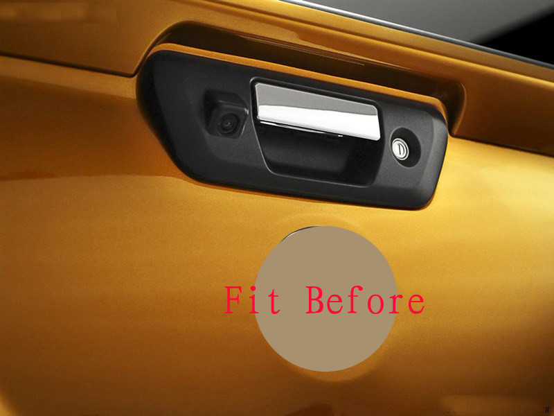 Free Shipping  For nissan navara np300 2015 2016 accessories chrome rear door handle bowl cover gate truck trim Rear Tail Down Trunk Lid Moulding Covers (12)