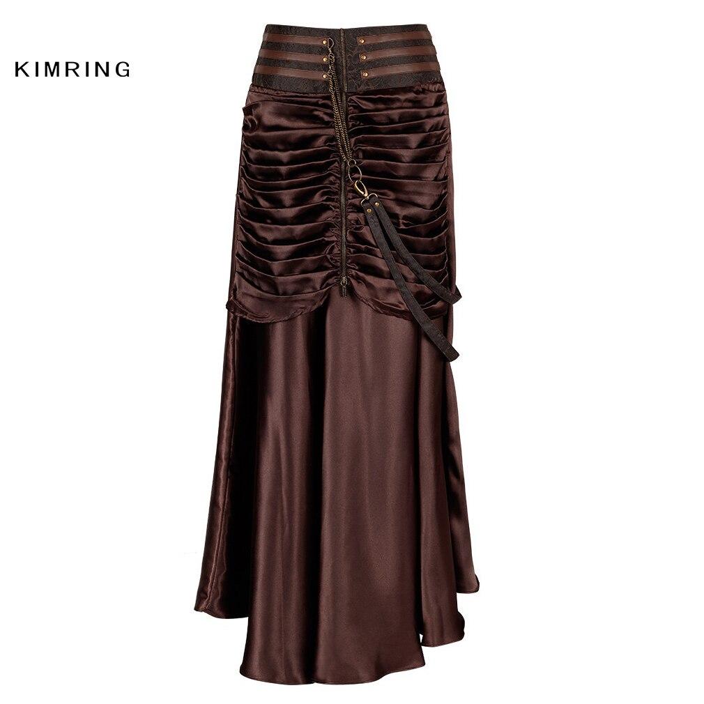 871e635945 Kimring mujeres falda gótica negra Vintage victoriana alta cintura ...