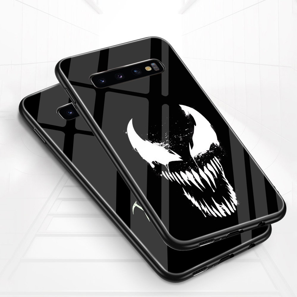 Image 3 - ciciber Marvel Venom For Samsung Galaxy S10e S10 S9 S8 Plus S10+ S9+ S8+ Phone Cases for Samsung Note 9 8 Tempered Glass Cover-in Fitted Cases from Cellphones & Telecommunications