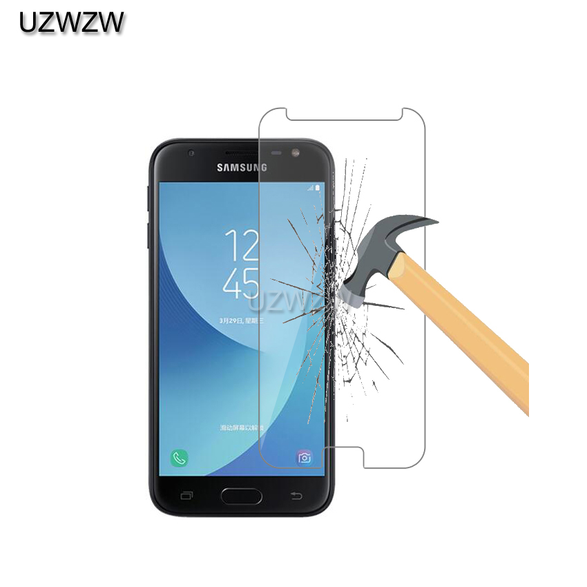 2pcs Hardness Tempered Glass For <font><b>Samsung</b></font> Galaxy J3 2017 <font><b>J330FN</b></font> Screen Protector Protective Film Glass image