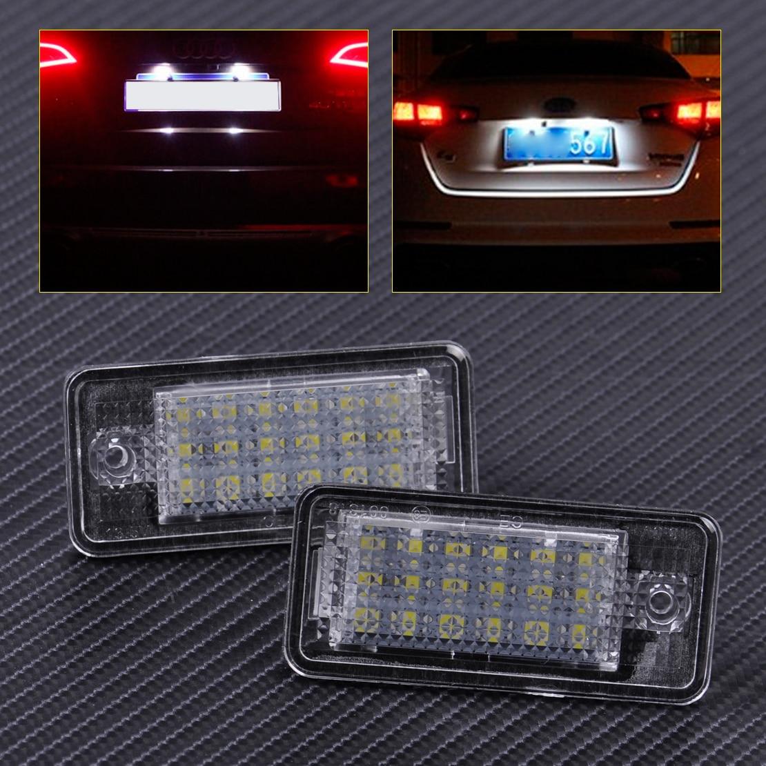 CITALL 2x Error Free 18 LED License Plate Lights Lamp 68E0807430A 8E0807430B for Audi A3 A4 A5 A6 A8 Q7 2004 2005 2006 2007 2008 доска для объявлений dz 1 2 j8b [6 ] jndx 8 s b