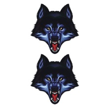 Hot Design Temporary Tattoo For Adults Waterproof Tatoo Sticker Body Art Terrible Wolf Face A-069 Fake Tattoo Man Woman