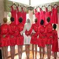 """Nupcial blanco Albornoz/Albornoces Kimono, 4 Colores Satén de Seda Batas de Novia Dama de Honor de La Boda """"NOVIA"""" O DIY Gráfico en la Parte Posterior"""