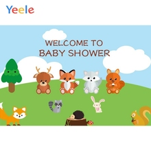 Yeele Cartoon Animals Backdrop Baby Show Portrait Photography Background Customized Photographic Backdrops For Photo Studio
