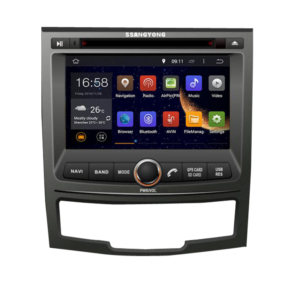 7IPS screen 4G Android 10 AV Output CAR GPS For SSANGYONG KORANDO 2010-2012 DVD PLAYER navigation radio multimedia sterero image