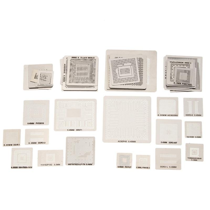 все цены на 715 Model BGA Stencil Templates Direct Heating Reballing Stencil Kit Reballing Jig For Chip Rework Repair Soldering Tools онлайн