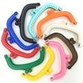 10 Цветов DIY Модные Пластиковые Сцепления Дуги Рамка Поцелуй Застежками 9x5 см Сумки Ручка С Замком