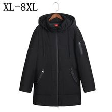 2017 New Winter Men's Warm Jacket Windproof Casual Outerwear Thick Medium Long Hooded Coat Men Parka Plus Size 6XL 7XL 8XL