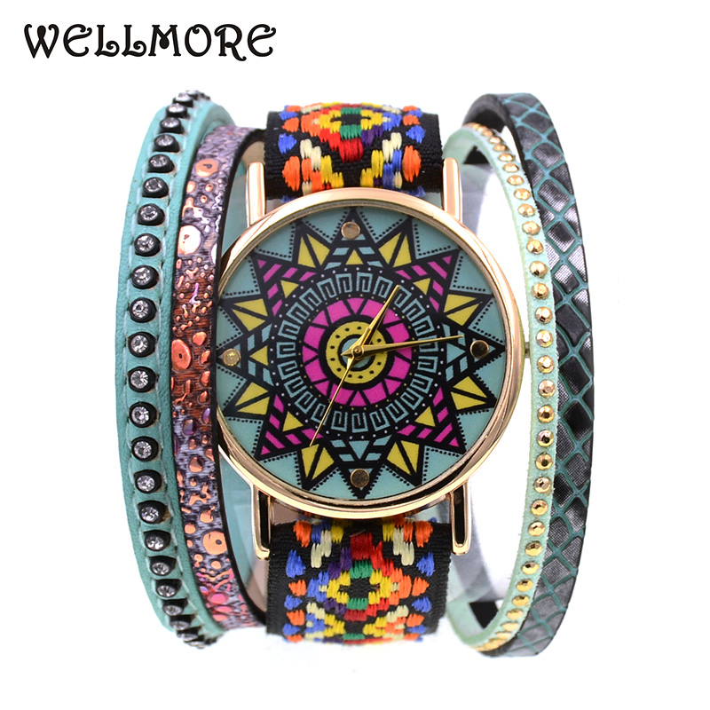 WELLMORE 2018 new style leather bracelet watch fashion&casual Color geometry quartz Wristwatches for women dental lab marathon handpiece 35k rpm electric micromotor polishing drill burs