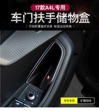 4 pcs ABS Porta Do Carro Lidar Com Apoio De Braço Box Recipiente De Armazenamento Organizador Bandeja Caixa De Luva Para Audi A4 B9 2016 2017