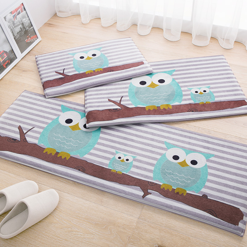 Buy cartoon owl carpet 45 120cm kitchen for Owl fish store