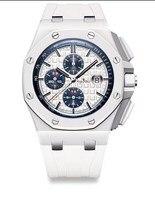 Элитный бренд Новый кварцевые ChronographSports для мужчин часы секундомер Леброн Джеймс Мода Сапфир часы со стразами черный резиновый AAA +