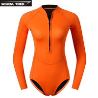 One piece Wetsuit Breathable Waterproof Swimming Suit Neoprene Diving Swimwear